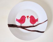 Whimsical Love Bird Plate
