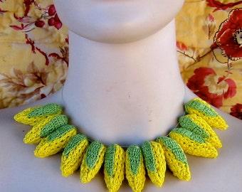 Yellow crochet corn