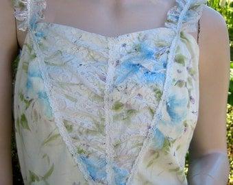 Vintage floral hippie chic boho dress