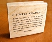 Retired Stampin Up - Simply Thanks - Wood Mounted Rubber Stamp - Gently Used