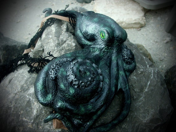 Black and green silicone octopus top ON SALE