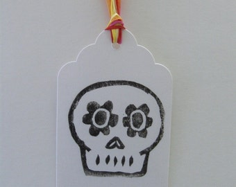Set of 10 Skully Gift Tags