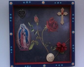 Day of the Dead Virgen de Guadalupe Shrine Nicho Retablo