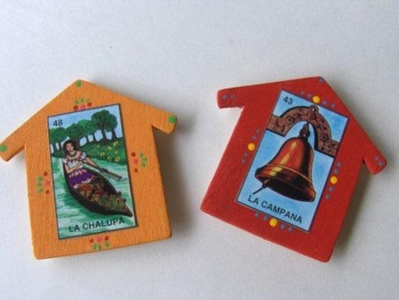 Set of 2 Loteria Casita Magnets