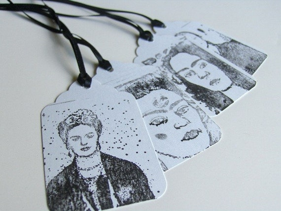 Set of 4 Frida Hand Stamped Tags