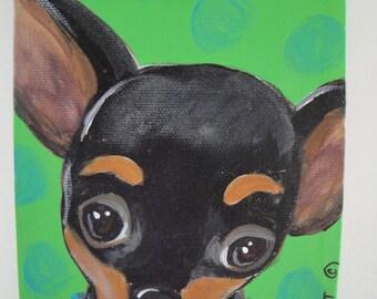 "8""x10"" Custom Pet Portait Illustration Art Painting in Acrylics"