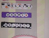 SALE Personalized Name Clips By Gracie Bug Boutique