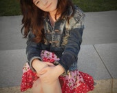 Life is just a bowl full of Cherries  Twirl Skirt by Gracie Bug Boutique 12/18 mo thru 8 youth