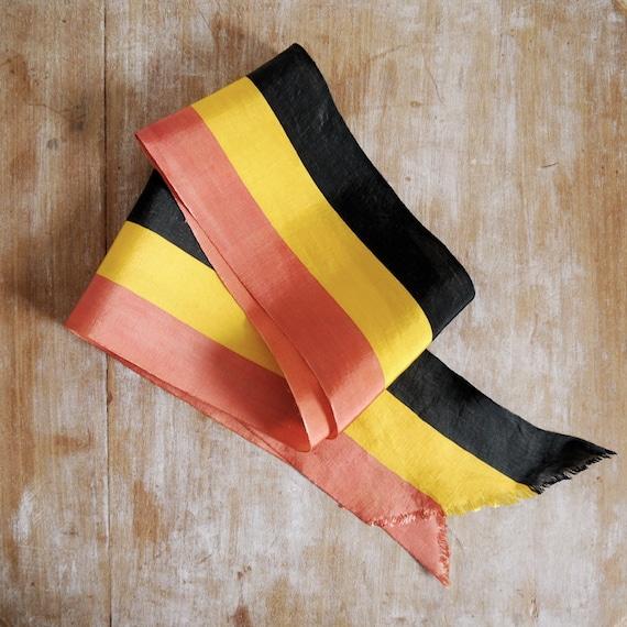 SALE /// Vintage Belgian parade sash in silk wide ribbon