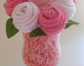 Baby Bouquet - The Blossom - Baby Shower Gift - Washcloth Roses
