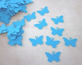 100 Turquoise Butterfly  Die Cuts