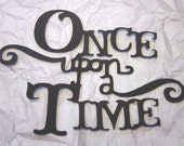 """Large """"Once Upon a Time""""  Phrase die cuts"""
