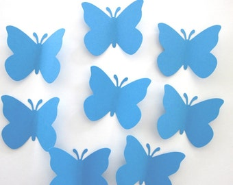 50 Large Blue  Butterfly  die cuts