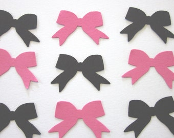 100 Pink / Black  Bow Die Cuts
