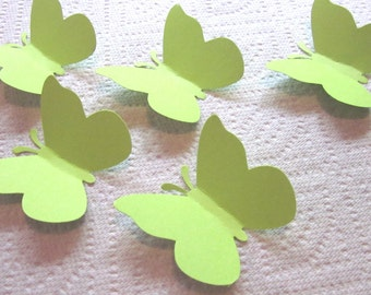 50 Large Lime Green  Butterfly  die cuts