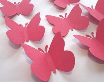50 Large Red  Butterfly  die cuts