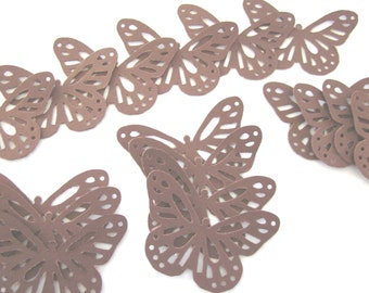 Large Brown  Lace  Butterfly Die Cuts