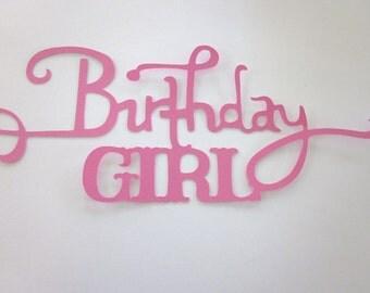 2 Birthday Girl  Phrase die cuts