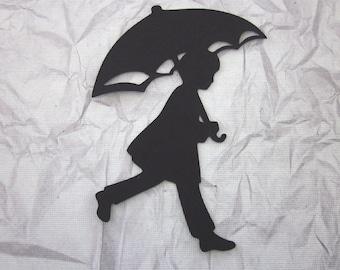 4 A Walk in the Rain Silhouette Die Cuts
