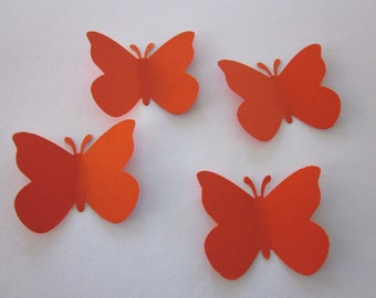 100 Large Orange  Butterfly  die cuts