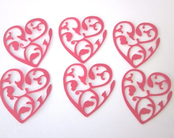 40 Beautiful Red Heart die cuts