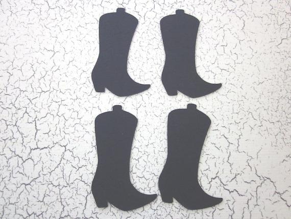 50 Black Cowboy Boot die cuts