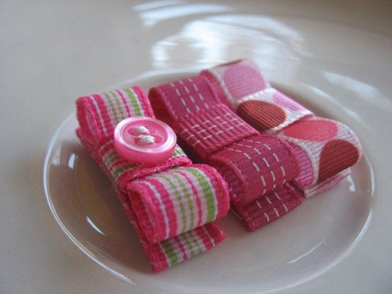 Lucy - Snap clips in pinks