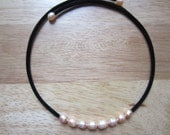 Pale Peach Freshwater Pearl Choker Necklace
