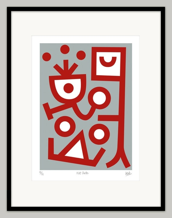 Hot Date by Lo Cole - Limited Edition Screen Print