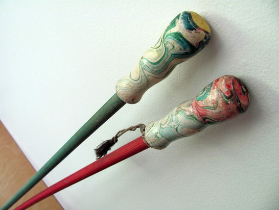 2 Carnival Canes Midway Sticks Vintage Long. Wood Great Condition. Both for One Price
