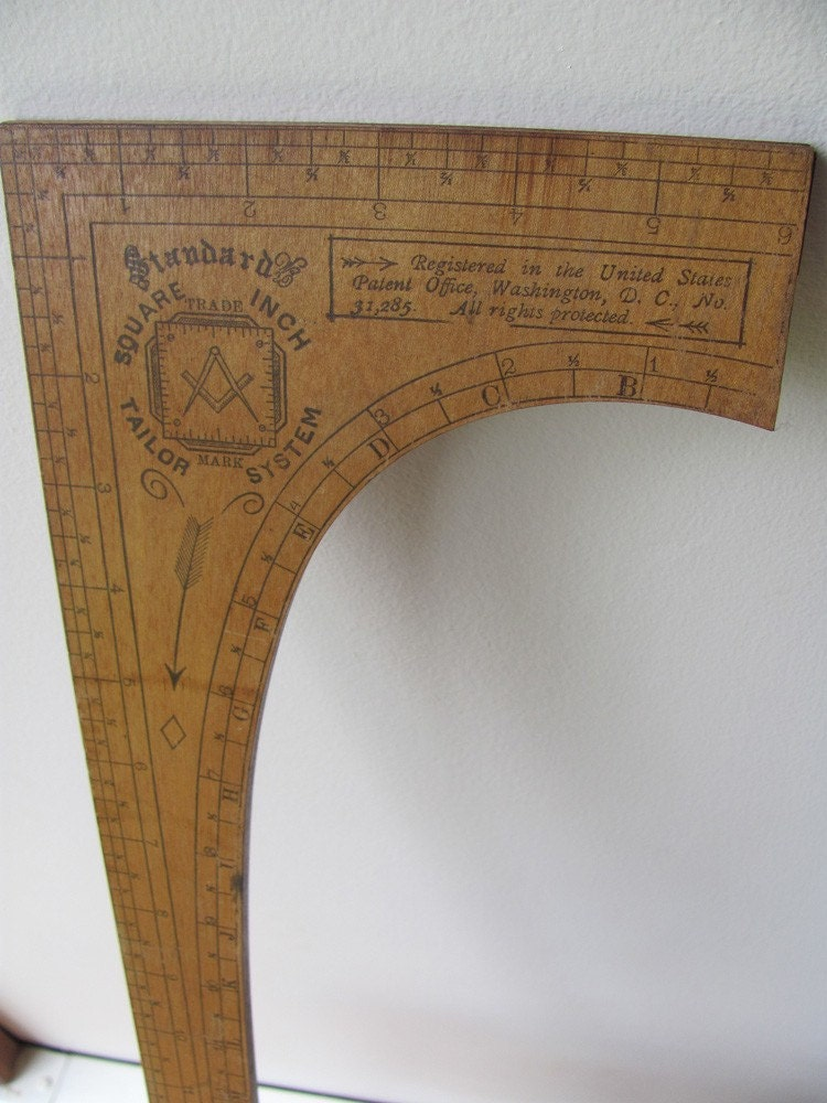 Tailor S Ruler Wood Seamstress Measure By Hilltoptimes