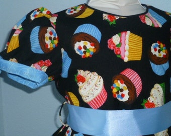 Girls party dress, Cupcakes with Sprinkles, size 3