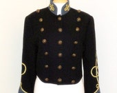 FREE Shipping // Vintage 80s Wool Marching Band MILITARY Blazer JACKET