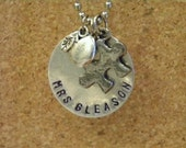 Custom Handstamped Autism Therapist or Teacher Necklace
