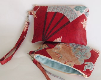 Wristlet, clutch, Kindle, Nook, Kobo,Oriental design