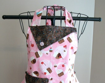 Pink Cupcake with Sprinkles Apron