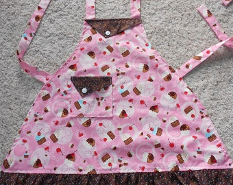 Pink Cupcake with Sprinkles Childs Apron