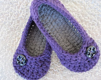 Crochet Womens Slippers, Ladies Slippers, House Shoes, Crochet Slippers, Winter Accessory, Your Size