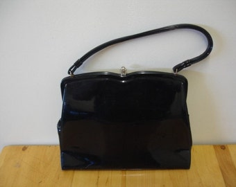 Vintage Shiny Black Purse