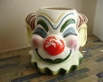 Antique Clown Jar