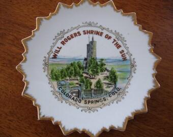 Vintage Will Rogers Souvenir Plate