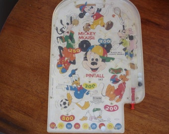 Vintage Mickey Mouse Pinball Game