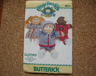 Vintage Unused Cabbage Patch Kids Sewing Pattern
