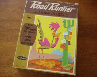 Vintage Whitman Road Runner Puzzle