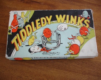 Vintage Parker Brother's Tiddledy Winks Game