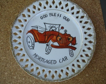 Funny Vintage Collectable Plate Wall Hanging