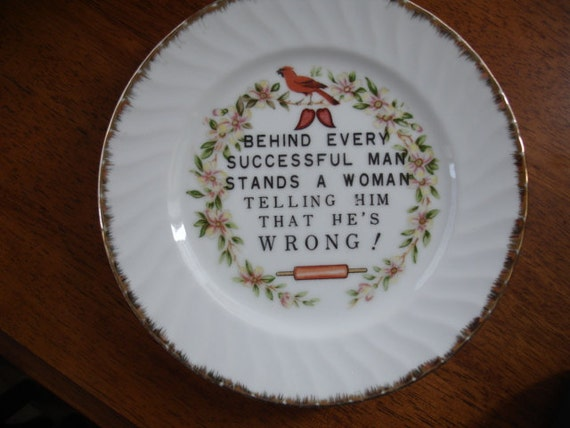 Behind Every Successful Man Plate