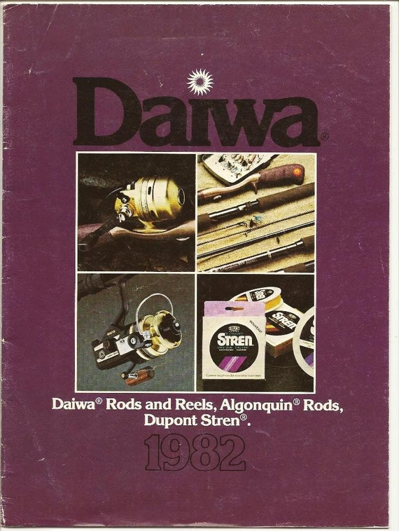 Fishing - Rod and Reel Catalogue 1982 DAIWA - Algonquin Rods, Dupont Stren