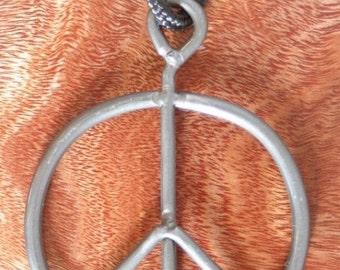 Original 1969 Vintage Woodstock Fence Peace Sign necklace pendant