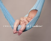 Newborn Baby Wrap in Baby Blue Two Tone Colors